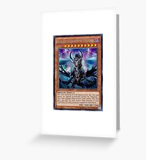 Blue Eyes Darkness Dragon Greeting Card