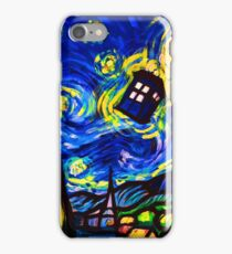 tardis starry night work art  iPhone Case/Skin