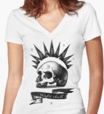 Misfit Schädel Shirt mit V-Ausschnitt