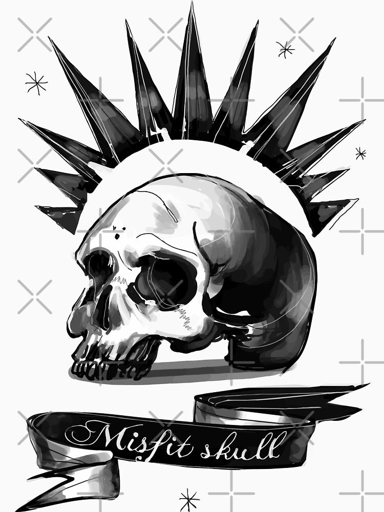 Misfit skull by 2sists4bros
