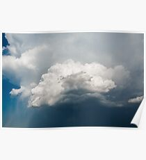 Blue Sky with Stormy Clouds Poster