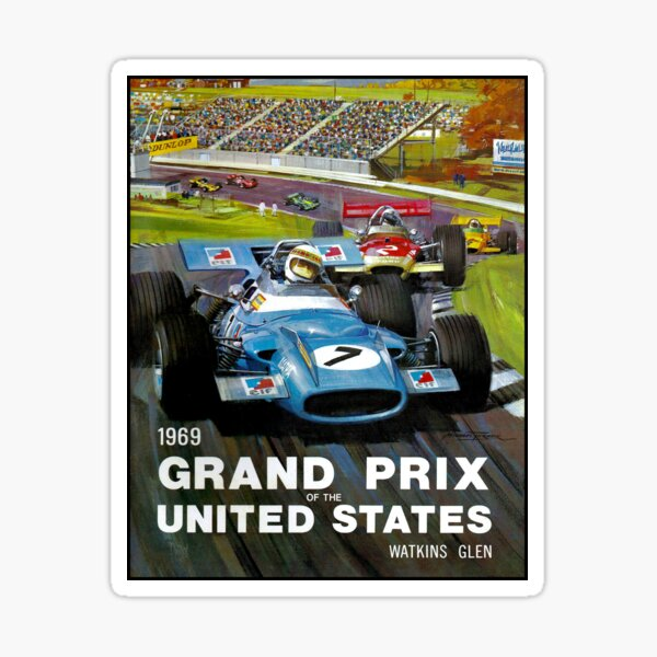 UNITED STATES GRAND PRIX: Watkins Glen Print Sticker