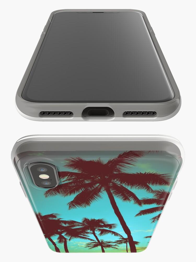 Alternative Ansicht von Vintage tropische Palmen iPhone-Hülle & Cover