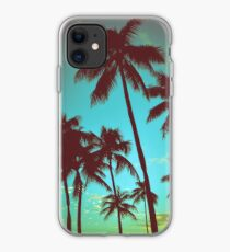 Vintage tropische Palmen iPhone-Hülle & Cover