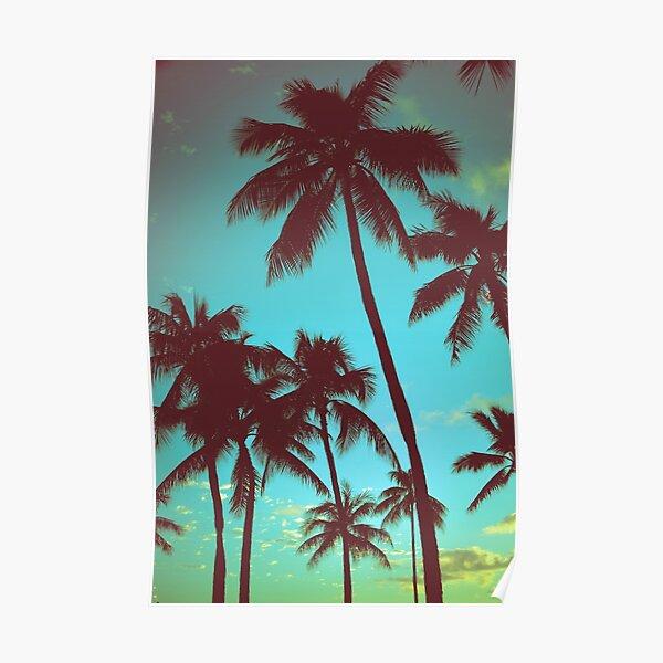 Vintage Tropical Palms Poster