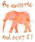 Awesome Elephant by artsandsoul