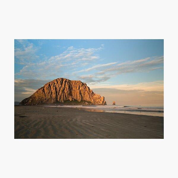 Morro Rock At Dawn Photographic Print