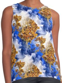 Abstract Clouds And Golden Leaves Design Contrast Tank