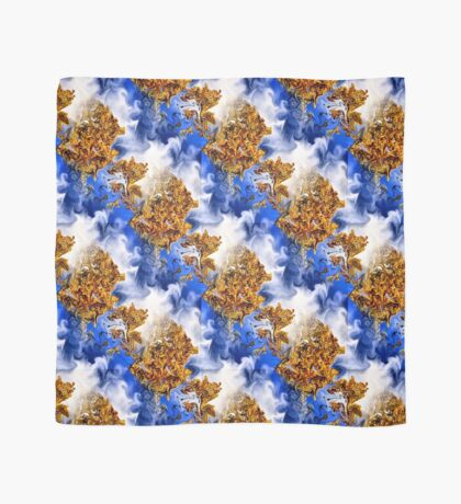 Abstract Clouds And Golden Leaves Design Scarf