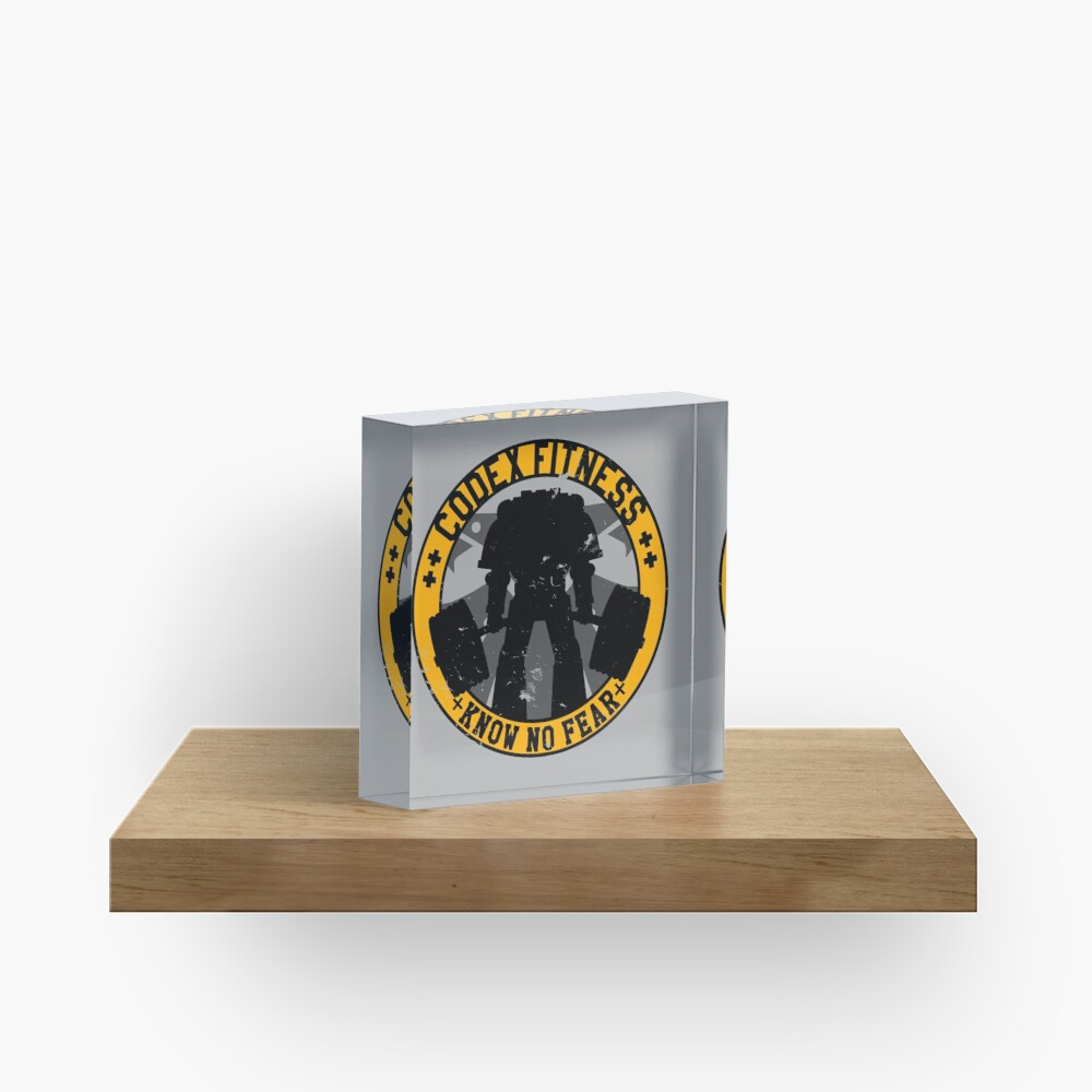 Know No Fear (large badge) Acrylic Block