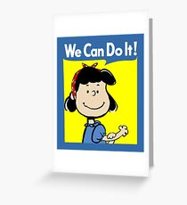 Lucy The Riveter Greeting Card