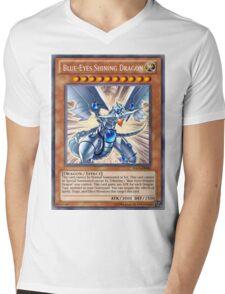 Blue Eyes Shining Dragon Mens V-Neck T-Shirt