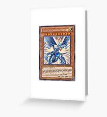 Blue Eyes Shining Dragon Greeting Card