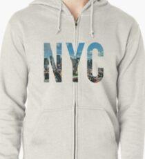 Sudadera con capucha y cremallera NUEVA YORK.