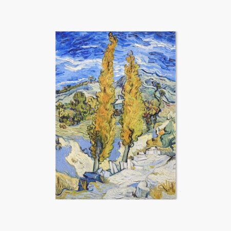 Vincent van Gogh - Two Poplars on a Hill Art Board Print