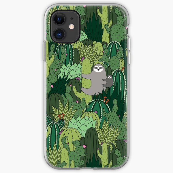 Cactus Sloth iPhone Soft Case