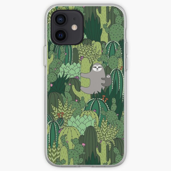 Cactus Sloth iPhone Soft Case