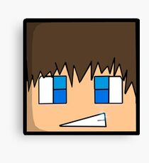 Minecraft head  Canvas Print
