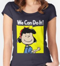Lucy The Riveter Women's Fitted Scoop T-Shirt