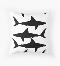Silhoutted Sharks Throw Pillow