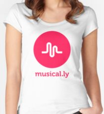 musical.ly musically Women's Fitted Scoop T-Shirt