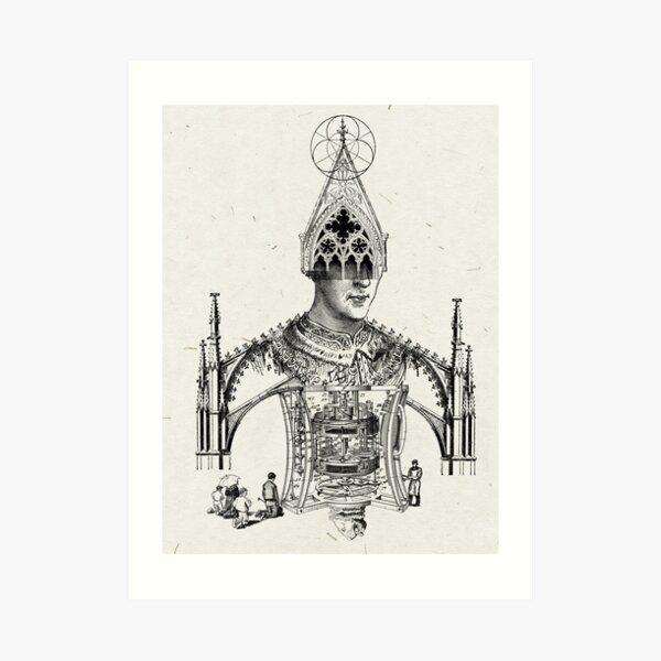 LOS IDOLOS DERRUMBADOS DEL HOMBRE (collapsed idols of men) Art Print