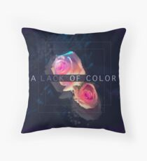 A Lack of Color Throw Pillow