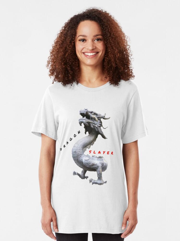 Alternate view of BEAST DRAGON SLAYER Slim Fit T-Shirt