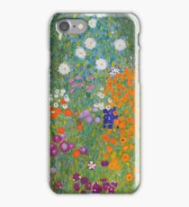 Gustav Klimt - Flower Garden, 1905-07 iPhone Case/Skin