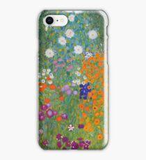 Gustav Klimt - Flower Garden, 1905-07 iPhone Case/Skin