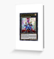 Galaxy-Eyes Cipher Dragon Greeting Card