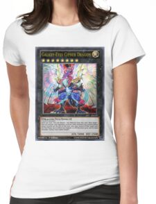 Galaxy-Eyes Cipher Dragon Womens Fitted T-Shirt