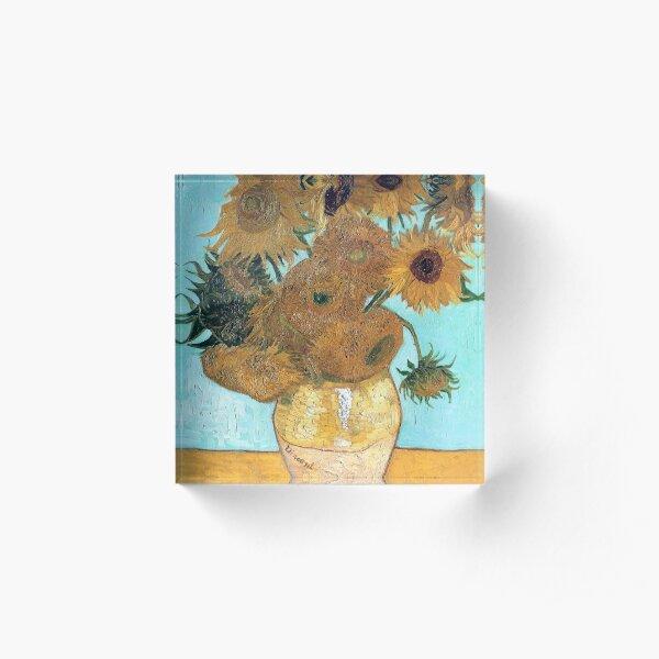 Vincent van Gogh - Still Life - Vase with Twelve Sunflowers Acrylic Block