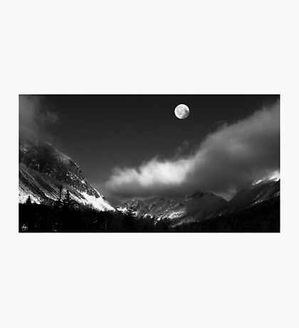 Moonrise Over Franconia Notch Photographic Print