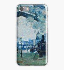 Claude Monet - Arrival of the Normandy Train, Gare Saint Lazare (1877)  iPhone Case/Skin