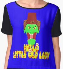 """Kettle Witch-""""Hello, Little Old Lady"""" Chiffon Top"""