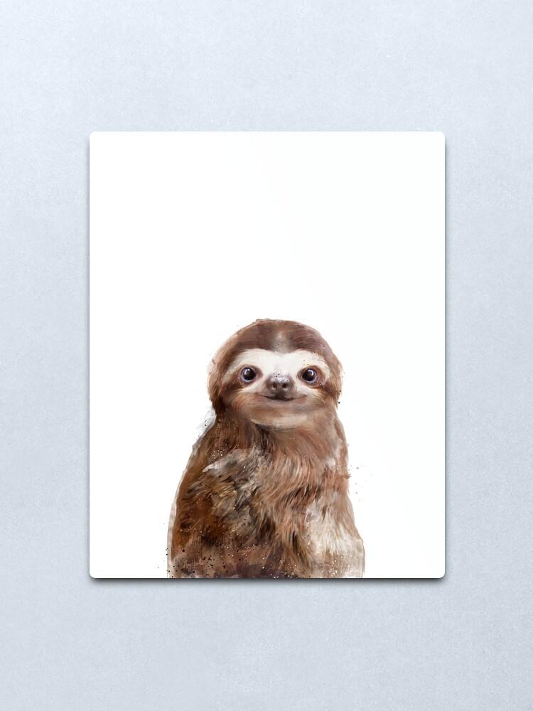 Alternate view of Little Sloth Metal Print