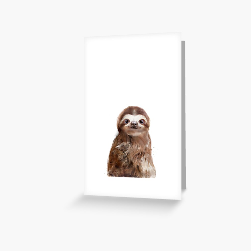 Little Sloth Greeting Card