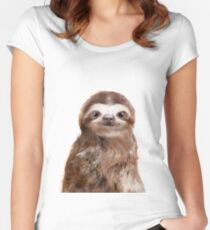 Little Sloth Fitted Scoop T-Shirt
