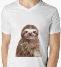 Little Sloth V-Neck T-Shirt