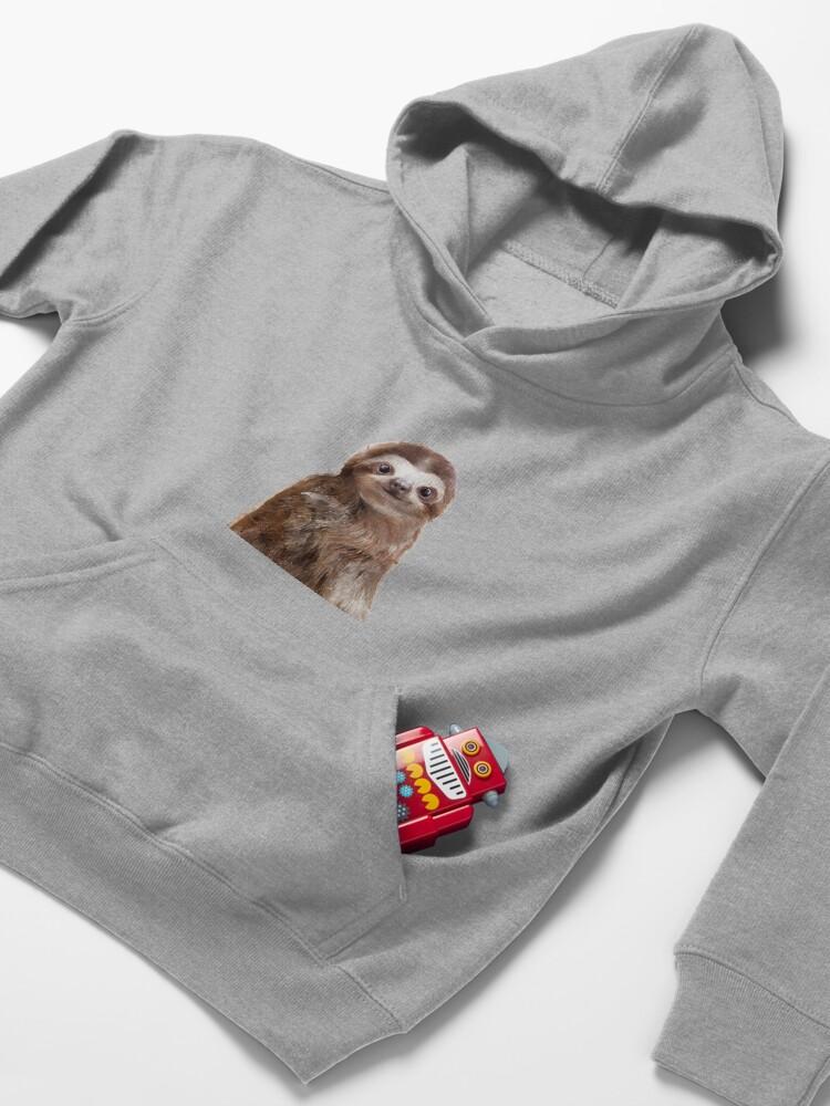 Alternate view of Little Sloth Kids Pullover Hoodie