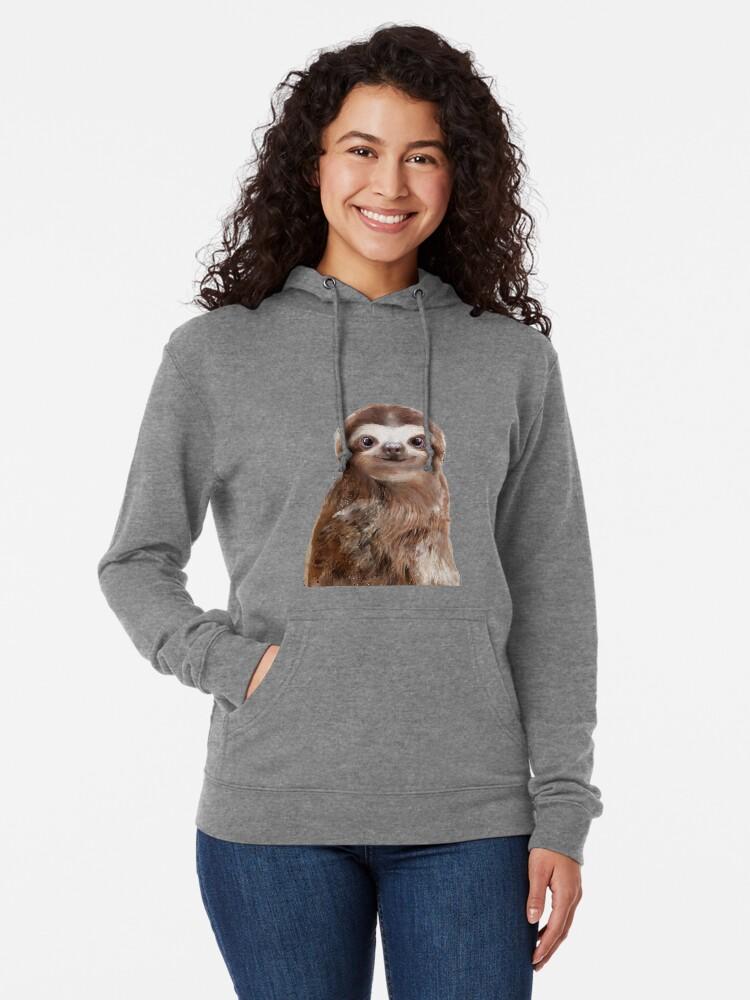 Alternate view of Little Sloth Lightweight Hoodie