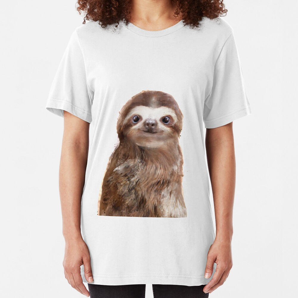 Little Sloth Slim Fit T-Shirt