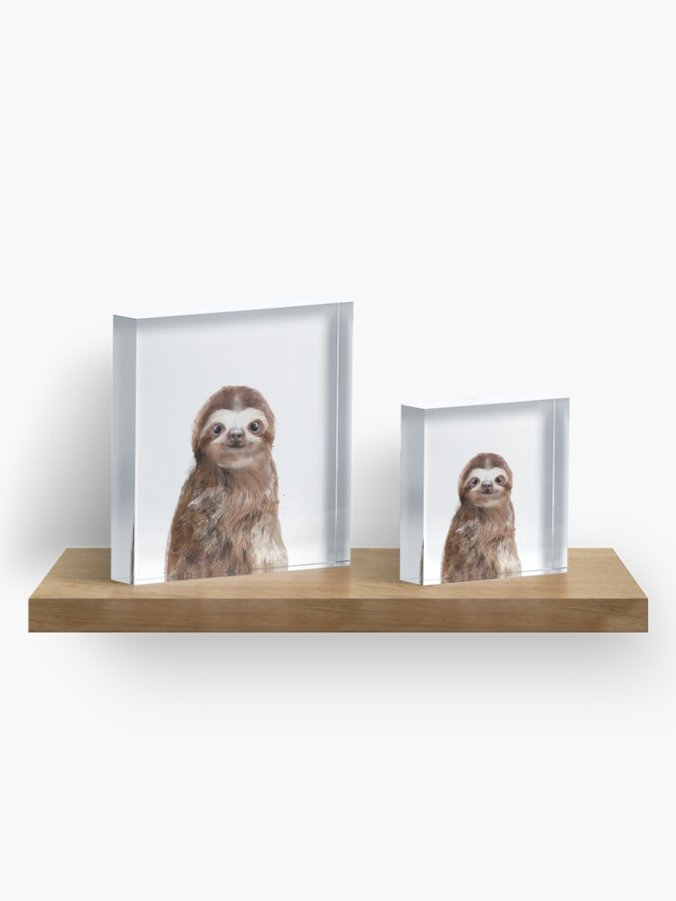 Alternate view of Little Sloth Acrylic Block