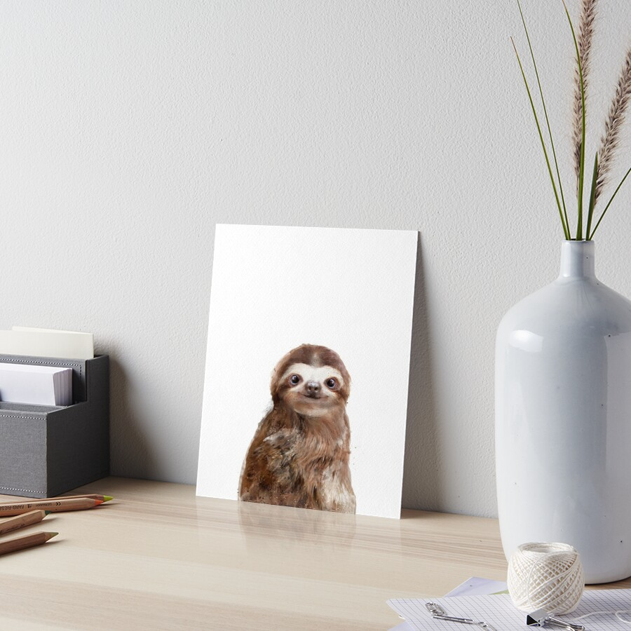 Little Sloth Art Board Print