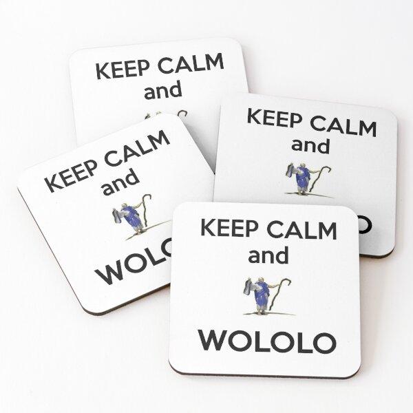 Keep calm and WOLOLO!-white Coasters (Set of 4)