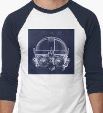 Vintage Welders Goggles Steampunk blueprint detail drawing Men's Baseball ¾ T-Shirt