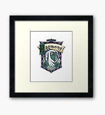 Harmonious Slytherin Framed Print