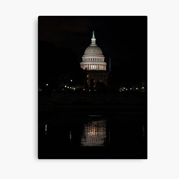 A Capitol Evening Canvas Print