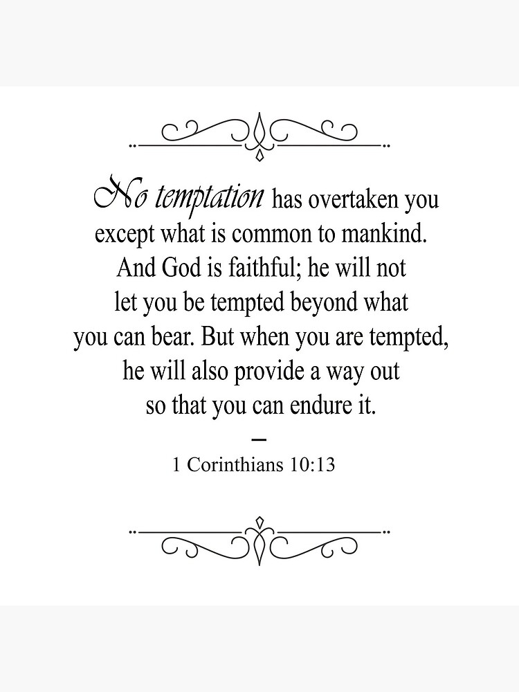 1 Corinthians 10:13 Bible Verse by OurLordsLove